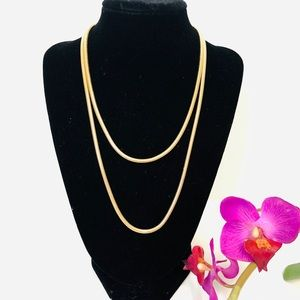 Sarah Coventry Long Round Serpentine Necklace